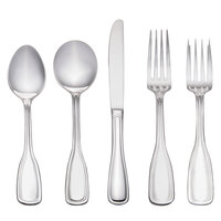 Sample - Acopa Saxton 18/0 Stainless Steel Heavy Weight Flatware Set with Service for One