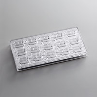 Fat Daddio's PCMM-01 ProSeries 15 Compartment Magnetic Polycarbonate Indented Corner Candy Mold