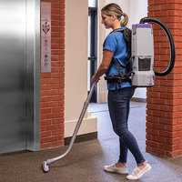 ProTeam 107650 GoFree Flex Pro II 12 Ah 6 Qt. Cordless Backpack Vacuum with Xover Multi-Surface Two-Piece Wand Tool Kit