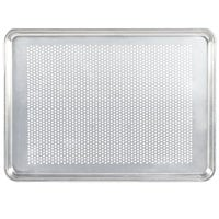 Vollrath 5303P Wear-Ever Half Size 18 Gauge 13 inch x 18 inch Wire in Rim Aluminum Perforated Bun / Sheet Pan