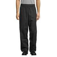 Uncommon Threads 4000 Unisex Black Customizable Classic Chef Pants - L