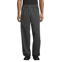 Uncommon Threads 4000 Unisex Chalk Stripe Customizable Classic Chef Pants - L