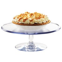 Cal-Mil 22057-12-12 12 inch x 4 inch Polycarbonate Footed Pedestal Cake Stand
