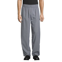 Uncommon Threads 4000 Unisex Houndstooth Customizable Classic Chef Pants - L