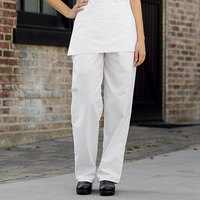 Uncommon Threads 4000 Unisex White Customizable Classic Chef Pants - L