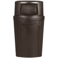 Continental 8325BN Corner Round 21 Gallon Brown Corner Trash Can with Dome Lid