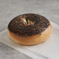 Original Bagel 4.5 oz. New York Style Poppy Seed Bagel - 75/Case