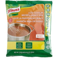 Knorr 13.5 oz. Low Sodium Brown Gravy Mix - 6/Case