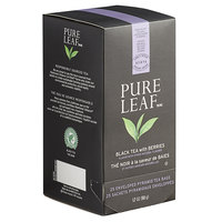 Pure Leaf Organic Black Tea with Berries Pyramid Tea Sachets - 25/Box