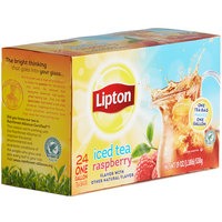 Lipton 24-Count Pack 1 Gallon Black Tea with Raspberry Iced Tea Filter Bags   - 2/Case