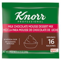 Knorr 8.75 oz. Milk Chocolate Mousse Mix - 10/Case