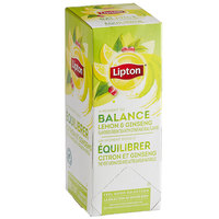Lipton Lemon & Ginseng Green Tea Bags - 28/Box