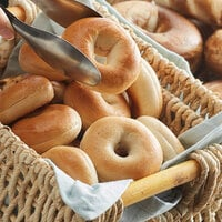 Original Bagel 1.3 oz. New York Style Plain Mini Bagel - 144/Case