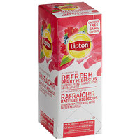 Lipton Berry Hibiscus Herbal Tea Bags - 28/Box