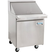Avantco SS-PT-27M-HC 27 inch 1 Door Mega Top Stainless Steel ADA Height Refrigerated Sandwich Prep Table