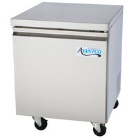 Avantco SS-UC-27R-HC 27 inch Stainless Steel ADA Height Undercounter Refrigerator