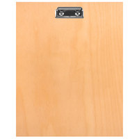 H. Risch BIRCH-MBCLIP 8 1/2 inch x 11 inch Birch Menu Board with Clip