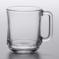Duralex 4018AR06 Empliable 10.875 oz. Stackable Glass Coffee Mug - 6/Pack