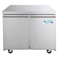 Avantco SS-UC-36R-HC 35 1/4 inch Stainless Steel ADA Height Undercounter Refrigerator