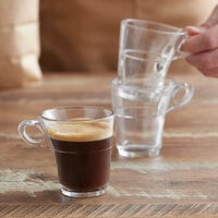 Duralex 4026AR06 Caprice 3.125 oz. Stackable Glass Espresso Mug - 6/Pack