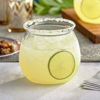 Visions 20 oz. Clear Plastic Stemless Fish Bowl Glass - 16/Case