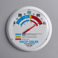 Taylor 5680 13 1/4 inch HACCP Cooler / Freezer Wall Thermometer