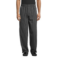 Uncommon Threads 4001 Unisex Chalk Stripe Customizable Classic Chef Pants - L