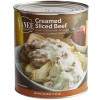 Vanee 490GK #10 Can Creamed Sliced Beef - 6/Case
