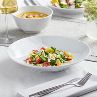 Sant'Andrea W6052344790 Nexus 47.75 oz. Round Bright White Embossed Porcelain Deep Pasta Bowl by Oneida - 12/Case