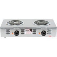 APW Wyott CP-2A Workline Double Open Burner Portable Electric Hot Plate - 120V, 1800W