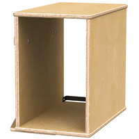 Jonti-Craft Baltic Birch 3361JC Endeavour 18 inch x 20 1/2 inch x 18 inch Closed CPU Tower Storage Booth