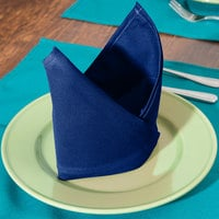 Intedge Royal Blue 65/35 Polycotton Blend Cloth Napkins, 20 inch x 20 inch - 12/Pack