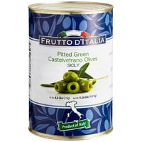 Frutto d'Italia Pitted Green Castelvetrano Olives 120/140 Count - 4.4 lb. (2 kg) Can