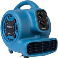 XPOWER P-230AT Blue 3-Speed Compact Air Mover with GFCI Power Outlets and Timer - 1/4 hp