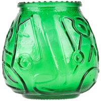 Sterno 40126 4 1/8 inch Green Venetian Candle - 12/Pack