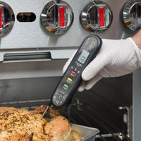 Taylor 9306N Dual Temp HACCP Digital Infrared Thermometer with Folding Thermocouple Probe