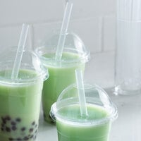 Choice 7 3/4 inch Translucent Pointed Wrapped Boba Straw - 4500/Case