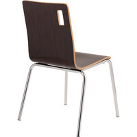 National Public Seating BCC21 Bushwick Series Espresso Finish Cafe Chair