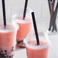 Choice 9 inch Black Pointed Unwrapped Boba Straw - 3500/Case