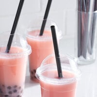 Choice 9 inch Black Pointed Wrapped Boba Straw - 1600/Case