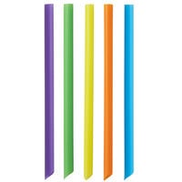 Choice 7 3/4 inch Neon Pointed Unwrapped Boba Straw - 4500/Case