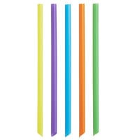 Choice 9 inch Neon Pointed Unwrapped Boba Straw - 500/Pack
