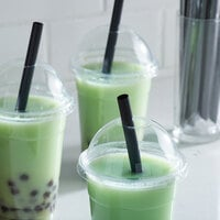 Choice 7 3/4 inch Black Pointed Wrapped Boba Straw - 4500/Case