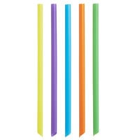 Choice 9 inch Neon Pointed Unwrapped Boba Straw - 3500/Case