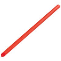 Choice 9 inch Red Pointed Unwrapped Boba Straw - 3500/Case