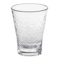 Front of the House ADO009CLT23 Drinkwise 7 oz. Hammered Tritan Plastic Rocks / Old Fashioned Glass - 12/Pack