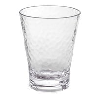 Front of the House ADO011CLT23 Drinkwise 12 oz. Hammered Tritan Plastic Double Rocks / Old Fashioned Glass - 12/Pack