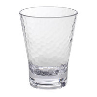 Front of the House ADO004CLT23 Drinkwise 14 oz. Hammered Tritan Plastic Double Rocks / Old Fashioned Glass - 12/Pack