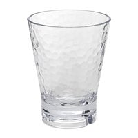 Front of the House ADO006CLT23 Drinkwise 10 oz. Hammered Tritan Plastic Rocks / Old Fashioned Glass - 12/Pack