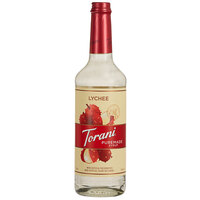 Torani 750 mL Puremade Lychee Flavoring Syrup